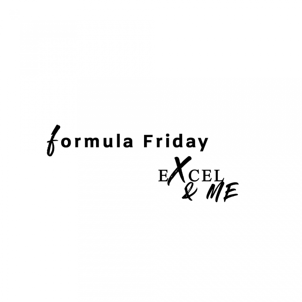forumla Friday logo from Excel and Me