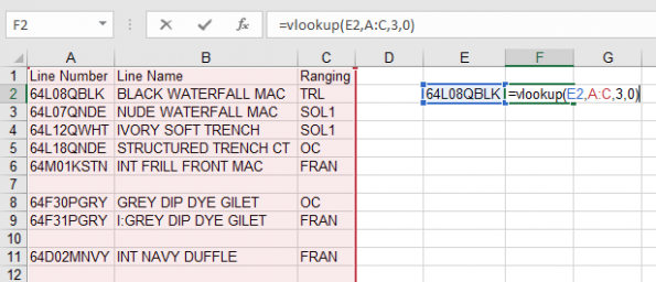 How to Vlookup example 1